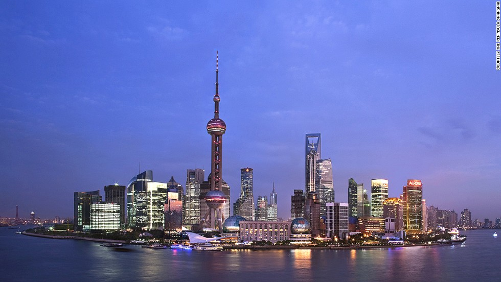 Answer: Shanghai, pictured here from the city's famous Bund waterfront area.