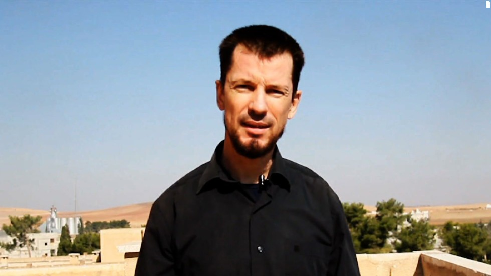 John Cantlie appears in a 2014 ISIS video described as filmed in Kobani, Syria.