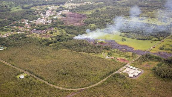 Smoke rises near Apa