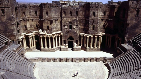 Continually inhabited for 2,500 years, and became the capital of the Romans' Arabian empire. The centerpiece is a magnificent Roman theater dating back to the second century that survived intact until the current conflict. Archaeologists have revealed the site is now severely damaged from mortar shelling.