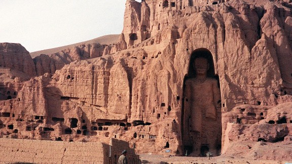The most spectacular legacy of Buddhism in the war-torn country, among the tallest standing Buddhas in the world -- the larger at 53 meters, the other 35 -- had survived over 1,500 years since being carved out of sandstone. The Taliban considered the monuments idolatrous and destroyed them with dynamite.