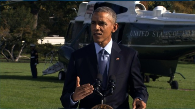 Obama weighs in on Ebola quarantines