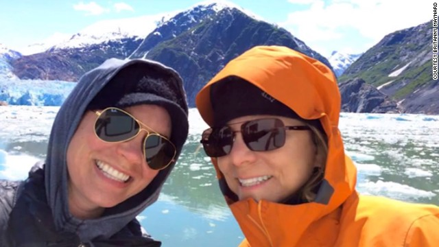 Britanny Maynard with mom during trip to the Glaciers.
