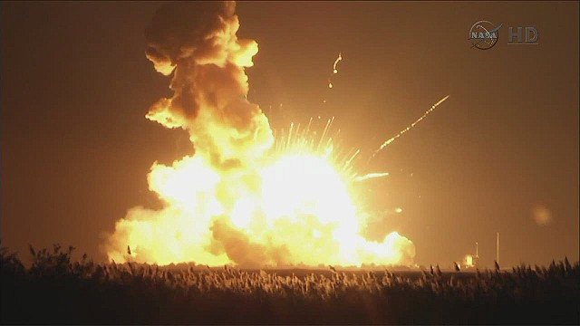 NASA-contracted rocket explodes on launch