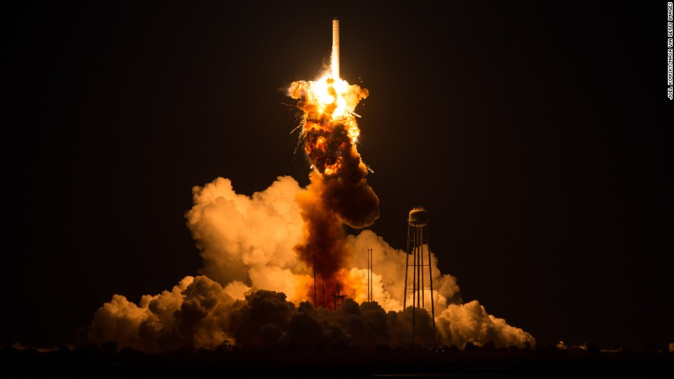 "On what was to be a resupply mission to the International Space Station, an <a href=""http://us.cnn.com/2014/10/28/us/nasa-rocket-explodes/index.html?hpt=hp_t2"" target=""_blank"">unmanned NASA-contracted rocket</a> exploded seconds after launch Tuesday, October 28, on the coast of Virginia. The launchpad was damaged, but no one was injured."