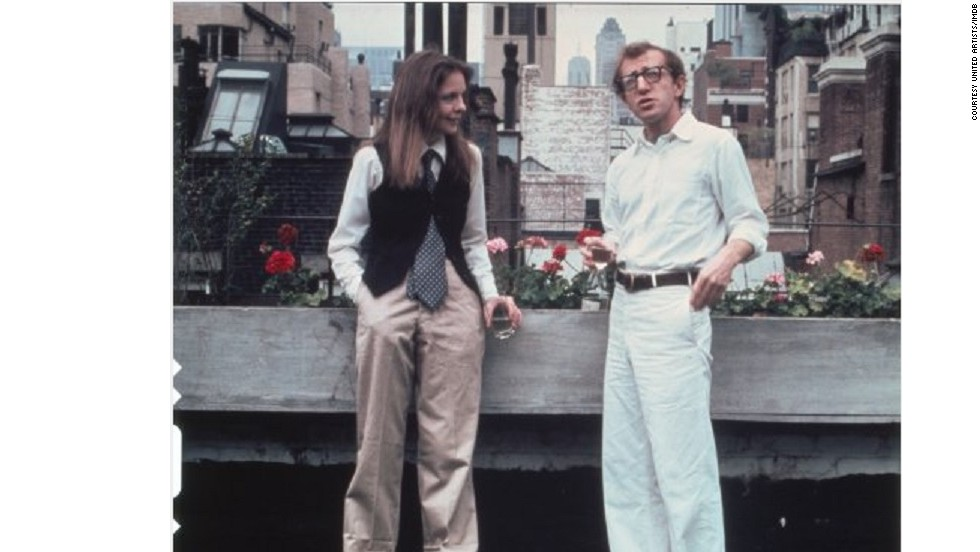 "Diane Keaton's wardrobe for 1977 film, ""Annie Hall,"" was designed by Ralph Lauren. It popularized a casual masculine style, consisting of extra-large shirts, trousers and jackets, and was often worn with a tie and waistcoat."