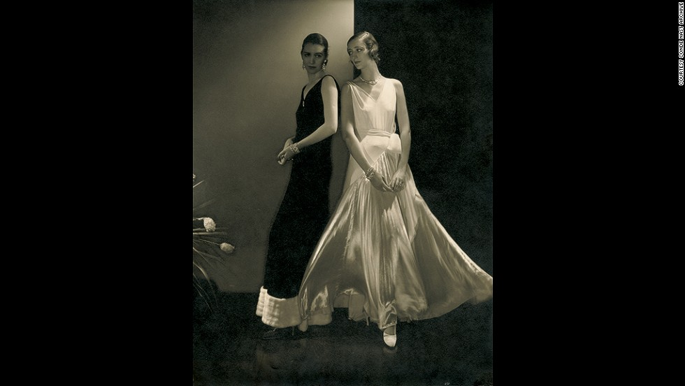 "Fashion photography made Steichen's name. This is the ""first supermodel"" Marion Morehouse, with an unidentified model, wearing dresses by Vionnet in Vogue, October 27, 1930."