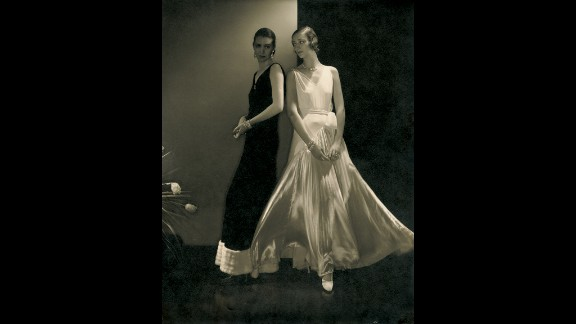 """Fashion photography made Steichen's name. This is the """"first supermodel"""" Marion Morehouse, with an unidentified model, wearing dresses by Vionnet in Vogue, October 27, 1930."""