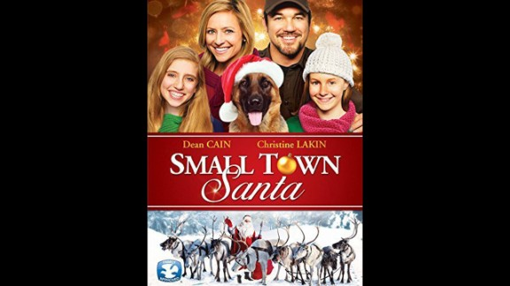 """Small Town Santa"" (2014): Life goes crazy when a sheriff arrests a home intruder claiming to be Santa Claus. Dean Cain and Christine Lakin star. (Netflix)"