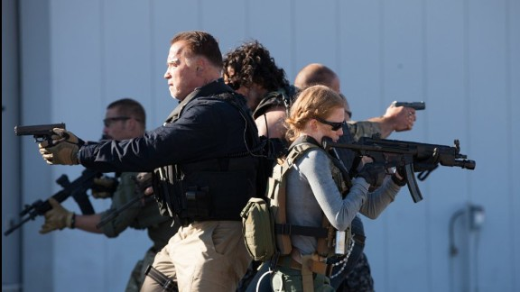 """Sabotage"" (2014):  Arnold Schwarzenegger leads this action drama about a team of DEA agents plotting their own heist. (Netflix)"