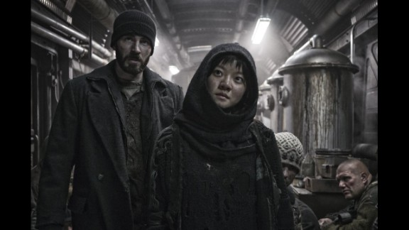 """Snowpiercer"" (2013): Based on a French graphic novel, the Earth's remaining inhabitants are confined to a train circling the globe as a revolution begins to take shape. Chris Evans, Tilda Swinton and Jamie Bell star. (Netflix)"
