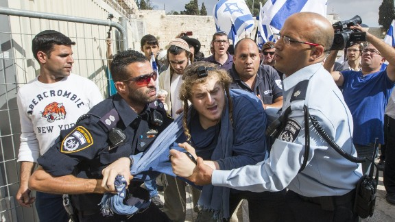 Israeli police detain a right-wing Israeli settler who was trying to jump a barrier to cross into the al-Aqsa mosque compound, Islam's third holiest site, but also the most sacred spot for Jews who refer to it as the Temple Mount because it once housed two Jewish temples.