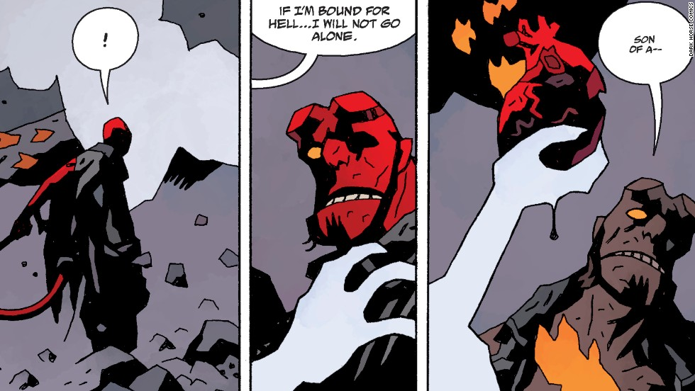 "The story of Hellboy (seen in two feature films) ends here but will begin anew in ""Hellboy and the BPRD."""