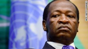 Former Burkina Faso leader Compaore charged in predecessor Sankara's murder