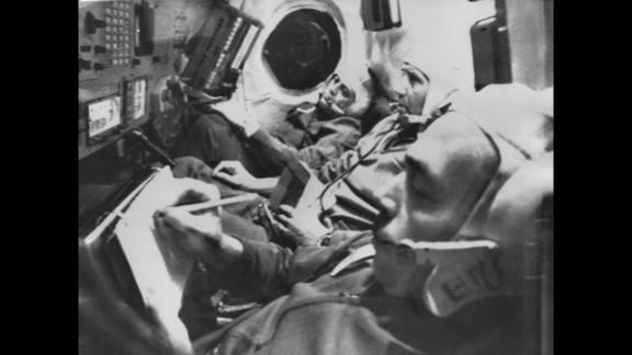 Three Soviet cosmonauts were found dead in their Soyuz 11 spacecraft after an apparently normal landing in June 1971.