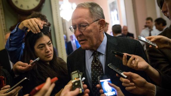Sen. Lamar Alexander of Tennessee speaks to reporters on Capitol Hill in 2013.