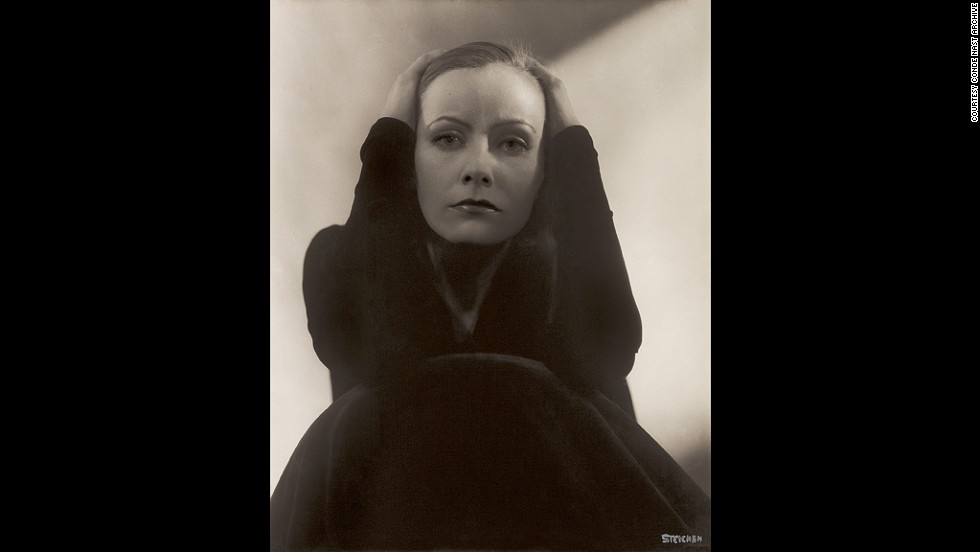 Greta Garbo poses in 1929 for Vanity Fair's October 1, 1929 edition. Edward Steichen, the photographer, was recognized as the best in the world at the time.