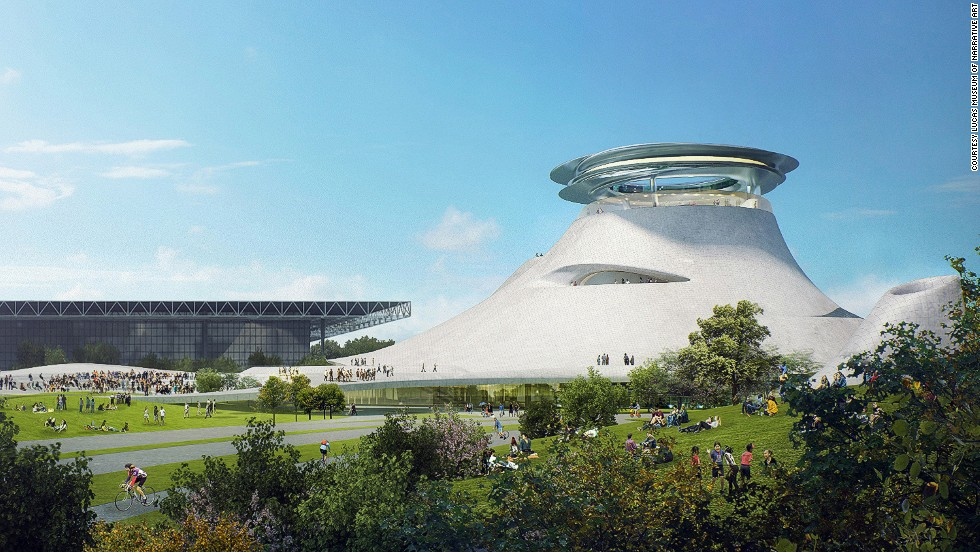 Architects Ludwig Mies van der Rohe have released the designs for the Lucas Museum of Narrative Art in Chicago, George Lucas' $300-million art museum on Chicago's lakefront.
