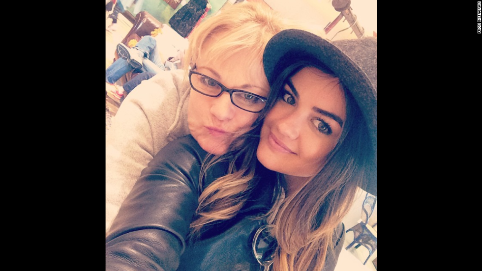 "Actress Lucy Hale <a href=""http://instagram.com/p/u32g3iwukc/?modal=true"" target=""_blank"">posted a selfie with her mother</a> on Saturday, November 1. ""Sweet, sweet momma,"" she wrote on Instagram."
