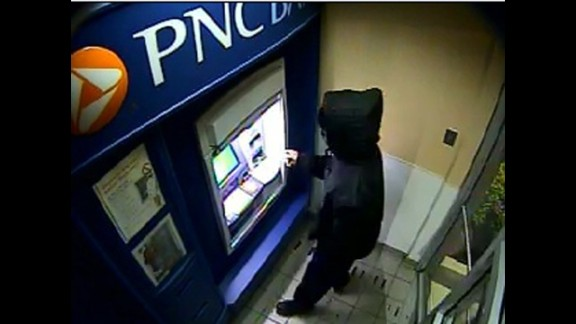 Police have released surveillance photos of the suspect at an ATM in Aberdeen, Maryland.