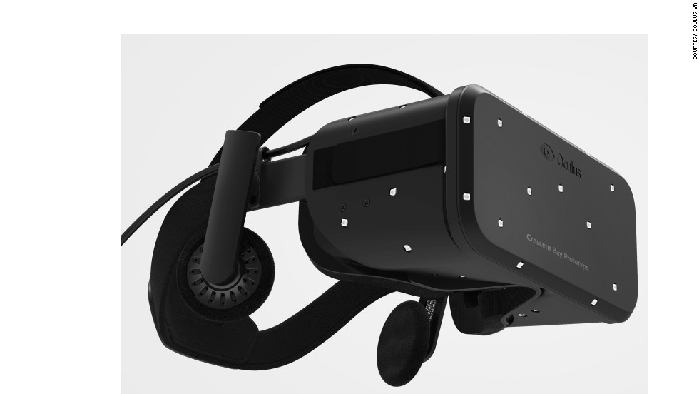 """This is the beginning of consumer virtual reality,"" Brendan Iribe, CEO of Oculus VR, told CNN at Dublin's Web Summit. Pictured is the Oculus ""Crescent Bay"" prototype headset."