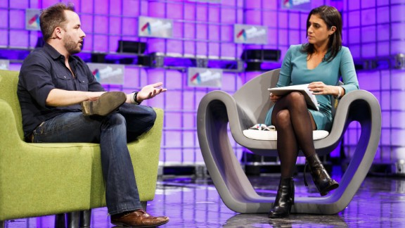 Drew Houston, Founder and CEO of Dropbox, in conversation with Laurie Segall from CNN Money, on the center stage at Web Summit. Houston discussed Dropbox