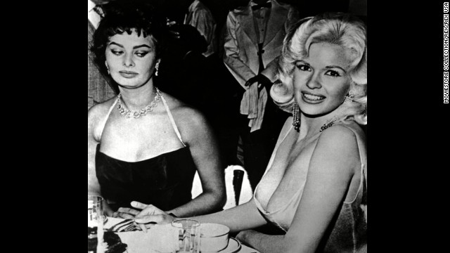 Image result for 11. Sophia Loren and Jayne Mansfield, 1957