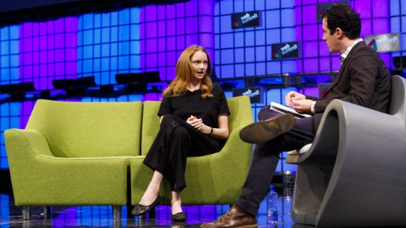 Model, actress and entrepreneur Lily Cole, is pictured in conversation with Matt Garrahan of the Financial Times at Dublin