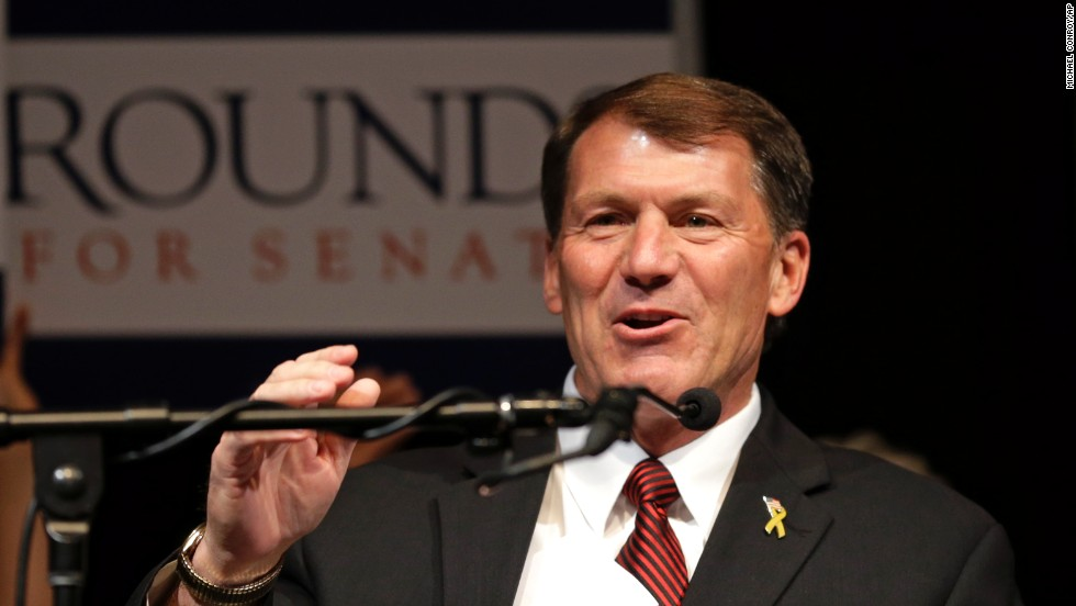 Former South Dakota Gov. Mike Rounds defeat his Democratic and Independent challengers for the state's open senate seat.