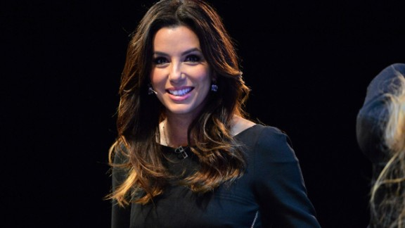 In this handout image supplied by Sportsfile, Actress Eva Longoria appears on stage during Day 1 of the 2014 Web Summit at the RDS on November 4, 2014 in Dublin, Ireland.