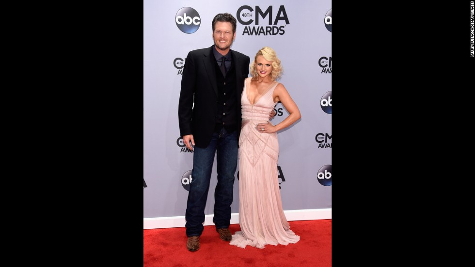 "Blake Shelton and Miranda Lambert. The ""Somethin' Bad"" songstress leads this year's group of nominees with nine nominations, matching the number of nods she got in 2010."