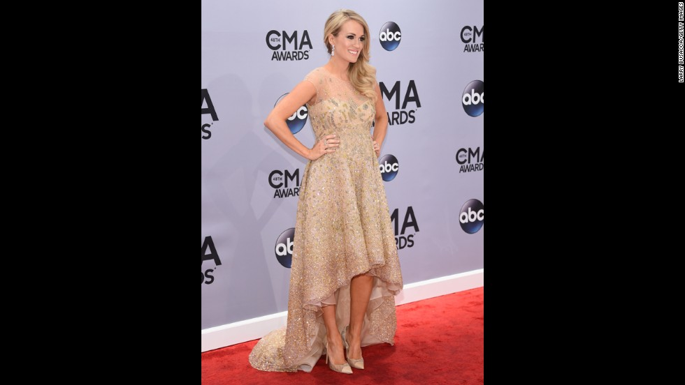 Carrie Underwood is co-hosting the CMA Awards with Brad Paisley.