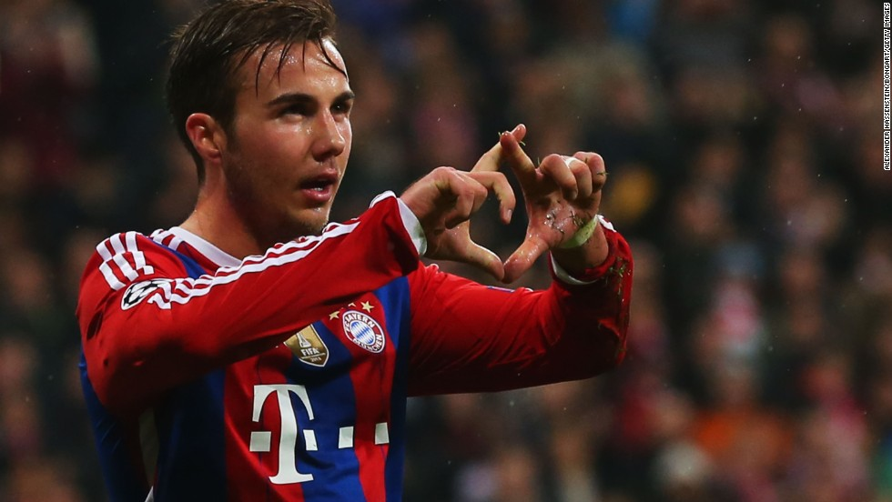 Bayern cruised to a 2-0 win over Italian side Roma, Mario Goetze (pictured) and Franck Ribery grabbing the goals to send the German side into the last 16.