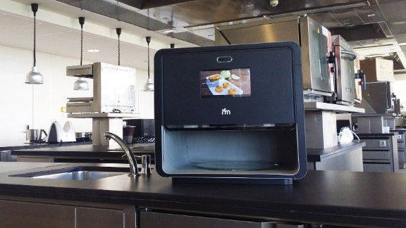 """Where regular 3D printers print with plastics, the """"Foodini"""" uses real food ingredients to create edible products."""