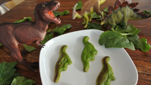 And it might even encourage children to eat healthily, with novelty food like these spinach quiche dinosaurs.