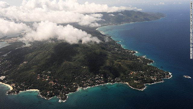 The Seychelles main island of Mahe.