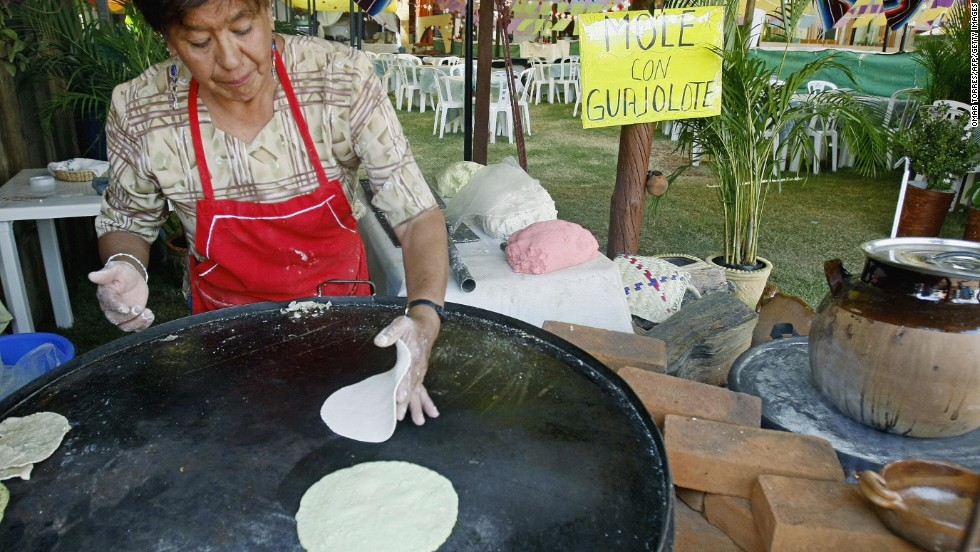 Fresh off the comal (that's the metal hotplate for cooking), warm tortillas smell like home for Mexicans, heaven for visitors.