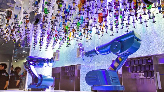 Royal Caribbean says Quantum of the Seas is the world's most technologically advanced cruise ship. It has robot bartenders. Do we still have to tip them?