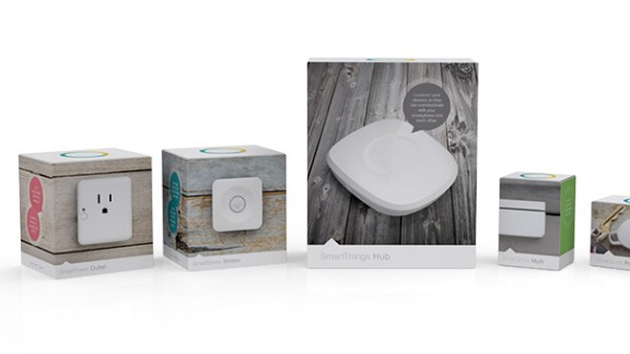 SmartThings are a family of smart home automation products. They remember your daily routines and automatically adjust things like climate, music and lighting.
