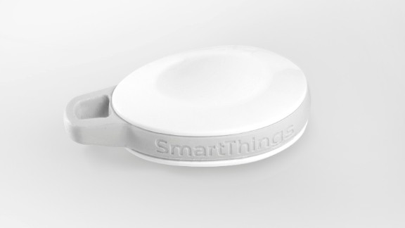 """One member of the SmartThings family is the SmartSense Presence device which tracks the comings and goings of people and pets. It will generate """"away"""" and """"returned"""" events when it is moved in and out of range of the SmartThings Hub."""