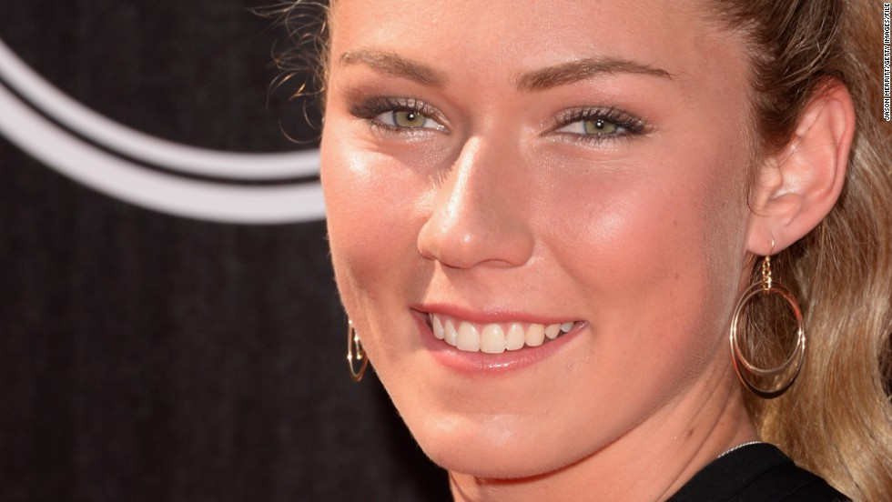 She might be a ski star as well as being socially aware, but Shiffrin still found time in her busy schedule to attend the 2014 ESPYS awards in Los Angeles.