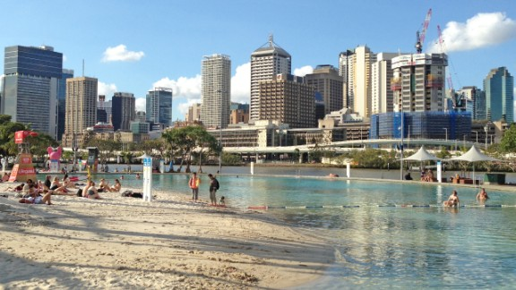 Not many cities have a beach within steps of the central business district. In Brisbane, lucky locals can take lunch breaks with sand between their toes.