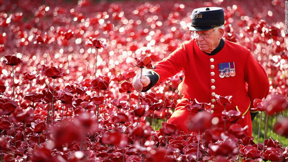 Final tower of london poppy planted on armistice day cnn each of the flowers has been sold for 25 about 40 mightylinksfo
