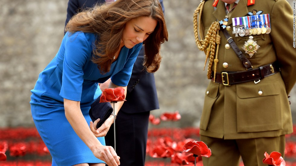 And Catherine, Duchess of Cambridge planted a poppy when she visited with Prince William, Duke of Cambridge in the summer.