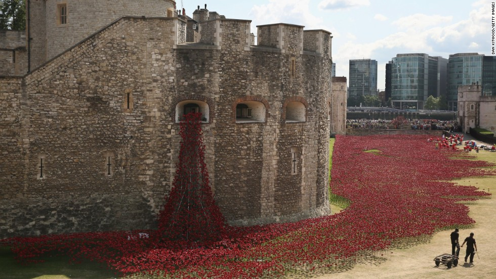 "British Prime Minister David Cameron this week praised all of those involved in the ""extraordinary project"" at the Tower of London."