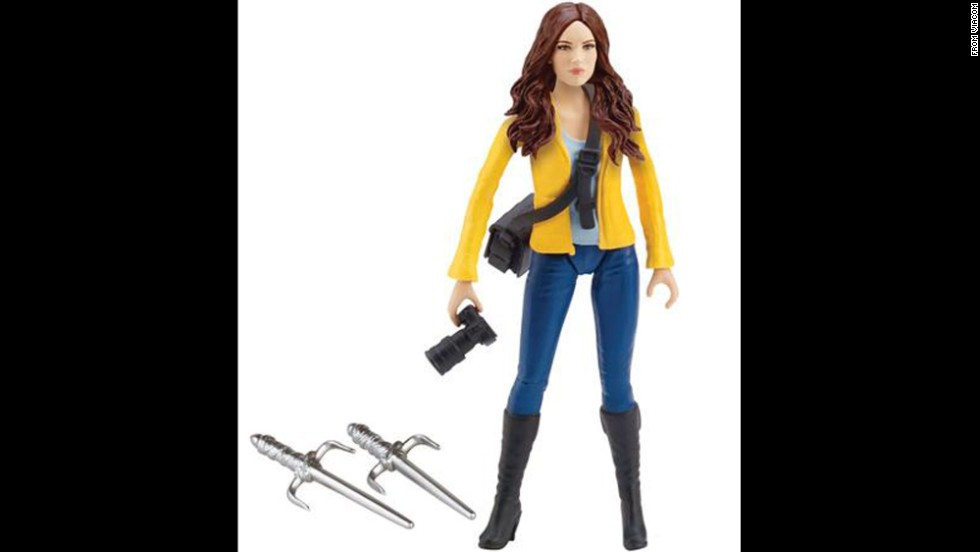 Teenage Mutant Ninja Turtle ally April O'Neil has gone through many iterations in her time as an action figure. Whether she's wearing a form-fitting yellow jumpsuit or the updated look seen here, April is armed with the tools of her journalism trade -- and deadly weapons.