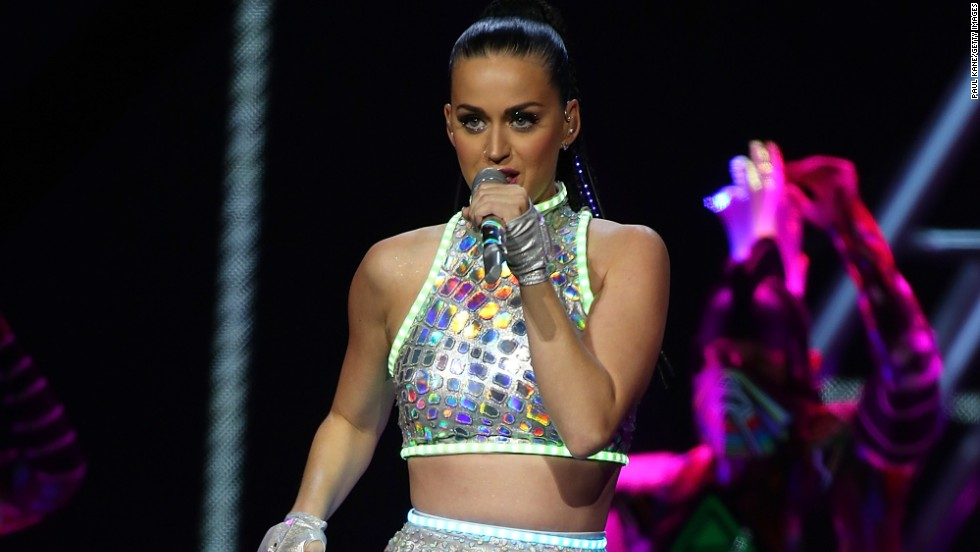 Katy Perry lights up the stage in Perth, Australia on November 7.