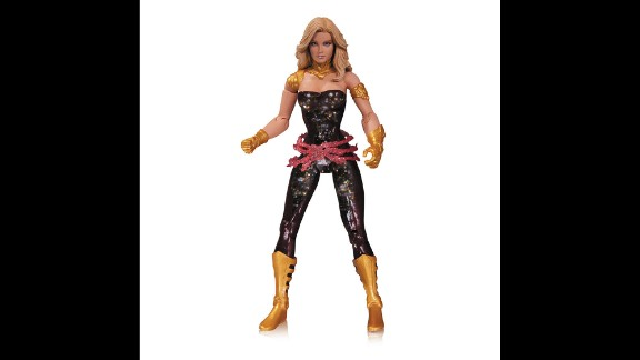 There's ongoing debate in the comic book community about the glamorization and oversexualization of female comic book characters and action figures. Case in point: DC Comics' Wonder Girl looks ready for a night at the disco in this sparkly, strapless number. She's also ready to kick some butt with her lasso if need be.