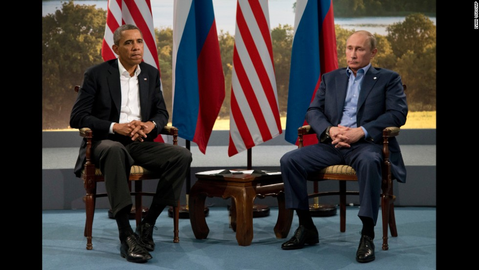 "While at the G8 summit Obama met with Putin. Shortly after the meeting, Obama took a shot at Putin for his demeanor in meetings, saying he had a ""slouch"" and looked ""bored."""