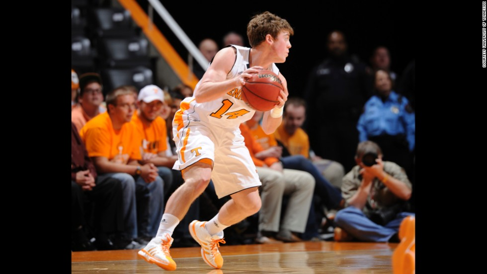 Tyler Summitt played on the male practice squad against his mother's team his freshman year of college. He also played on the University of Tennessee men's team.